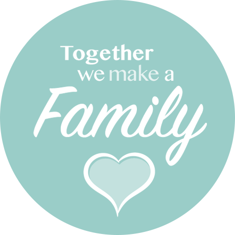 Cuoio slider met tekst Together we make a family