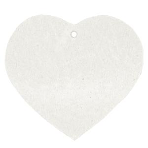 Leren hart kleur off white tas