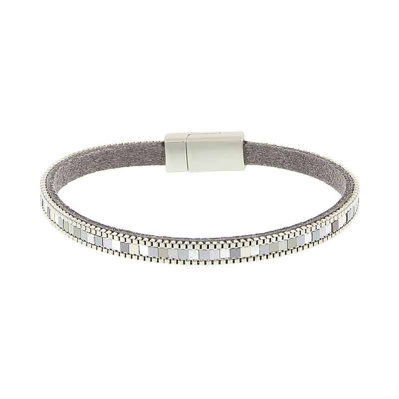 biba armband kleur zilver smal