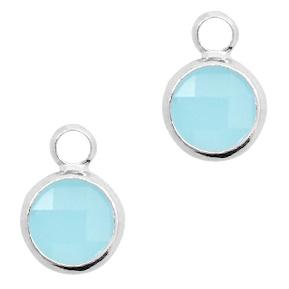 Hanger crystal glas lichtblauw