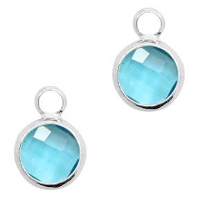 hanger crystal glas turquoise