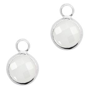 Hanger crystal glas wit opal
