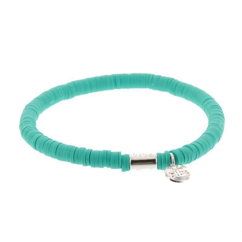 Biba clay armband kleur emerald green kralen 6mm
