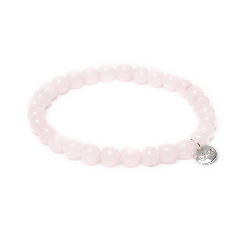 Biba jade armband kleur lightly pink kralen 6mm