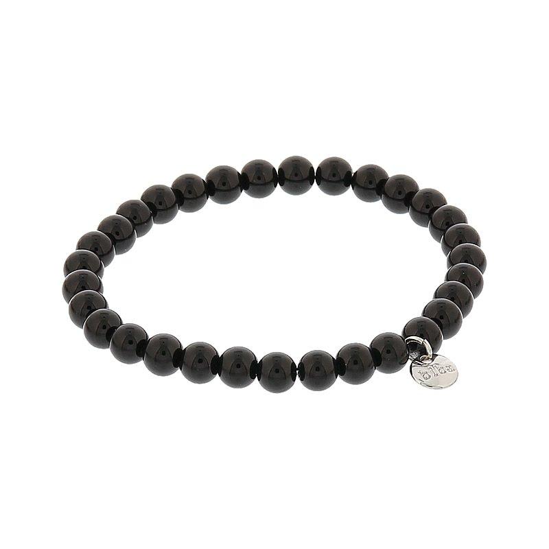 Biba pearl armband kleur black kralen 6mm