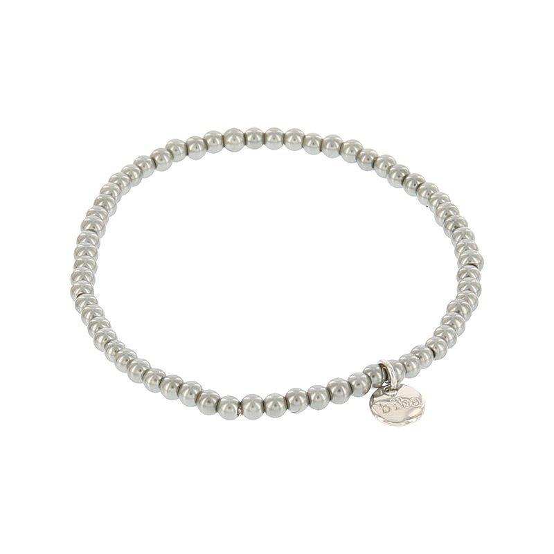 Biba pearl armband kleur cloud grey kralen 3mm
