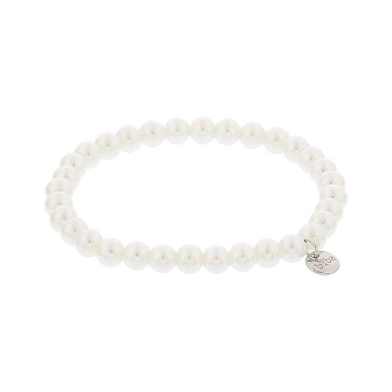 Biba pearl armband kleur white kralen 6mm