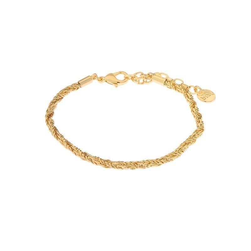 Biba armband kleur gold vorm gedraaid maat 16 t/m 18 cm