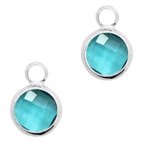 Hanger crystal glas color blue zircon