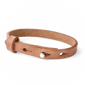 Leather bracelet color auburn brown