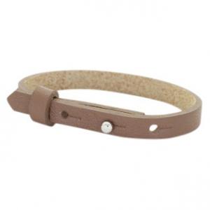 Smalle armband kleur mid brown