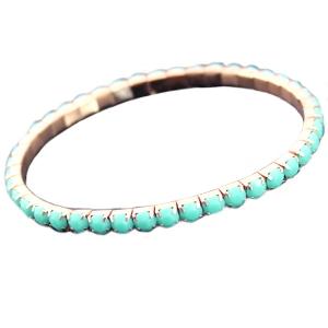 Home diverse armbandjes elastische armband goud light turquoise