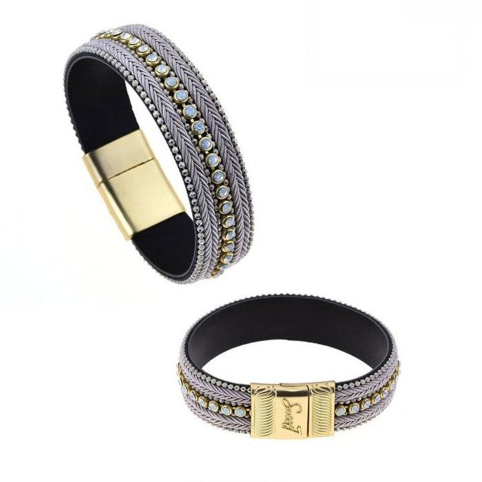 Armband met magneetsluiting kleur wit goud