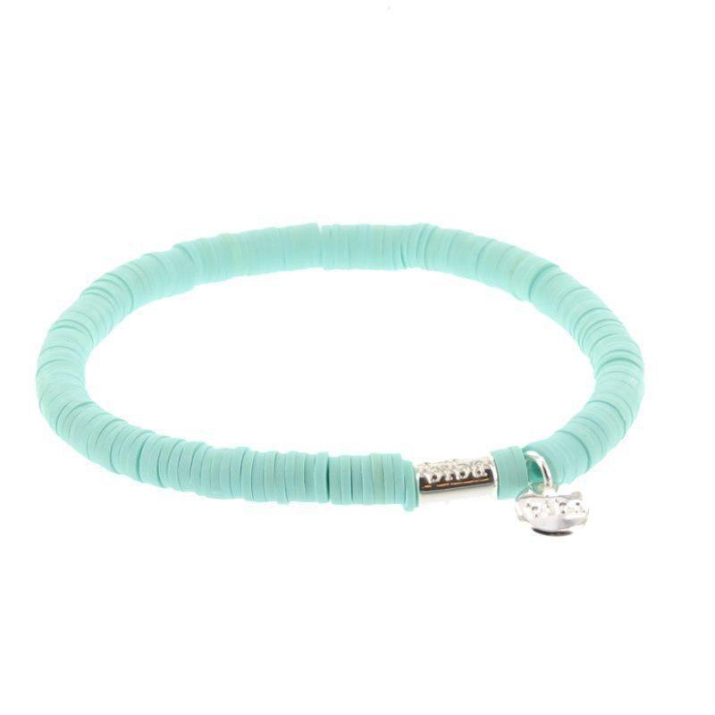 Biba clay armband kleur mint kralen 6mm