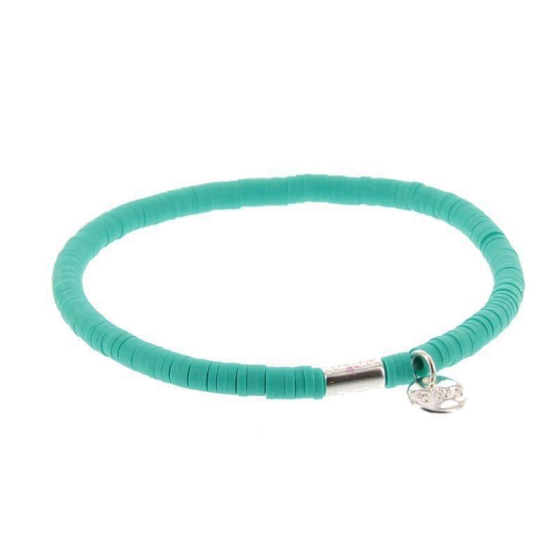 Biba clay armband kleur emerald green kralen 4mm