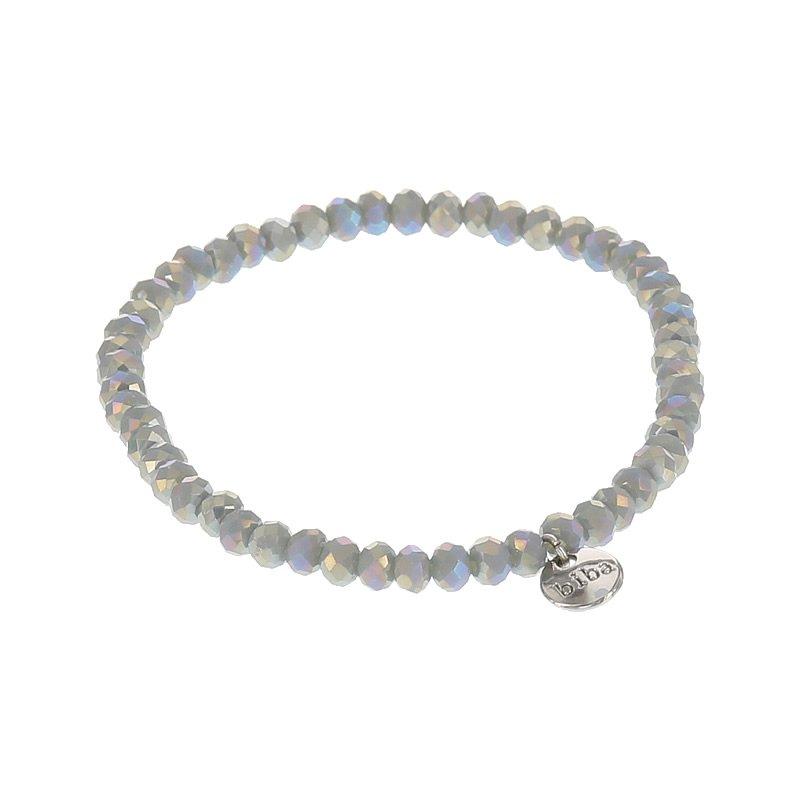 Biba facet armband kleur crystal dark beige kralen 4mm