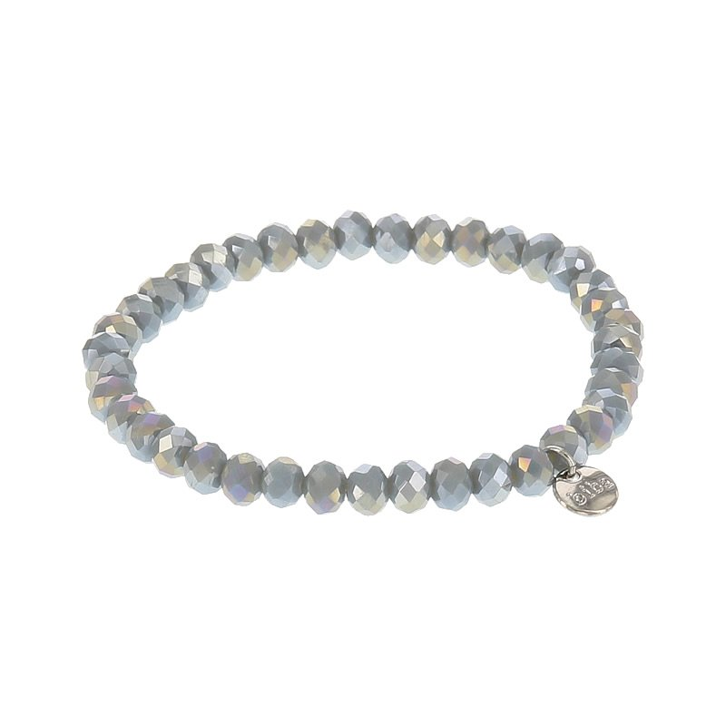 Biba facet armband kleur crystal dark beige kralen 6mm
