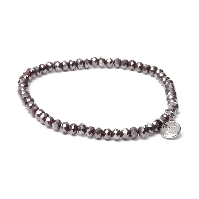 Biba facet armband kleur diamond red kralen 4mm