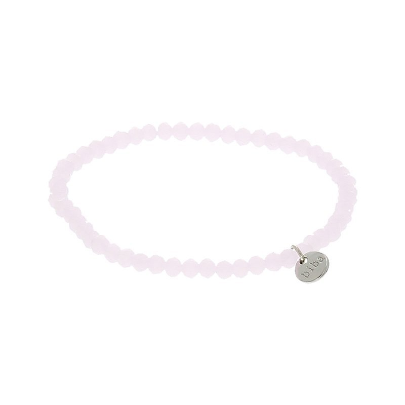 Biba facet kralen armband kleur lightly pink 4mm