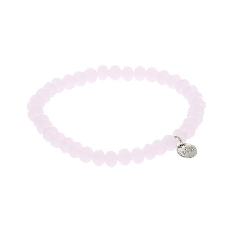 biba facet kralen armband kleur lightly pink 6mm