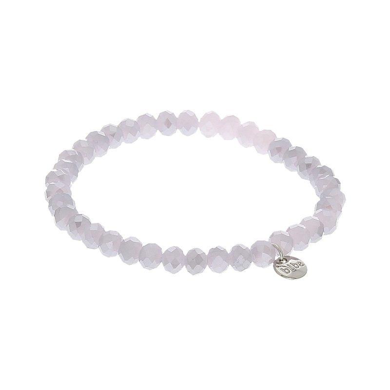 Biba facet armband kleur pink grey kralen 6mm