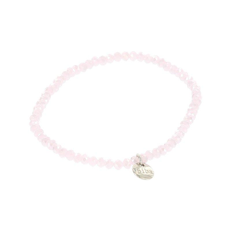 Biba facet armband kleur sweety pink kralen 3mm
