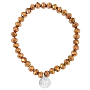Facet armband copper gold metallic