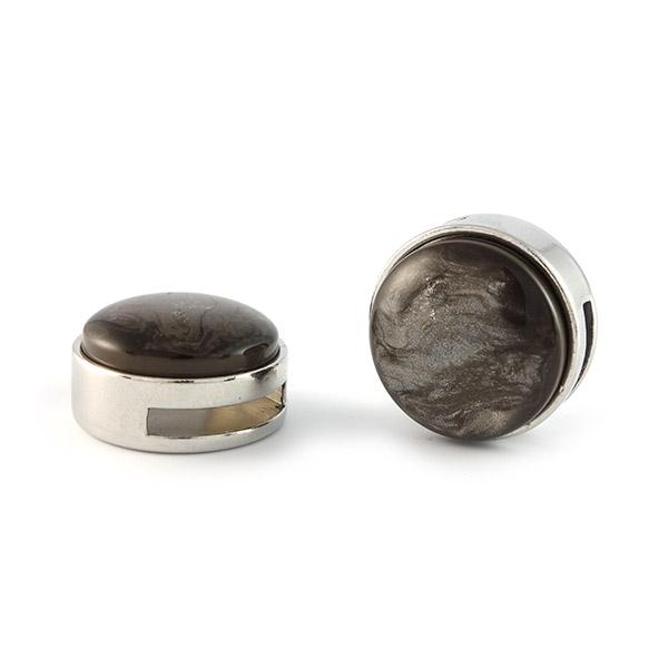Slider zilver met cabochon jais taupe brown 20mm gewoon sieraden - Taupe gekleurde ...