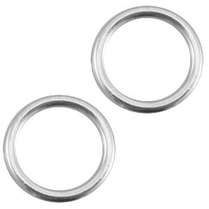 Dichte ring smalle armband kleur zilver