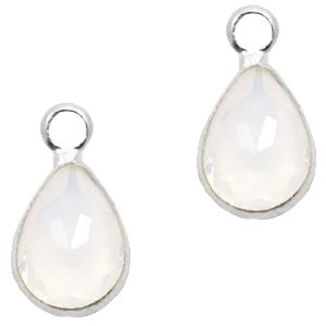 Hanger crystal kleur wit vorm druppel