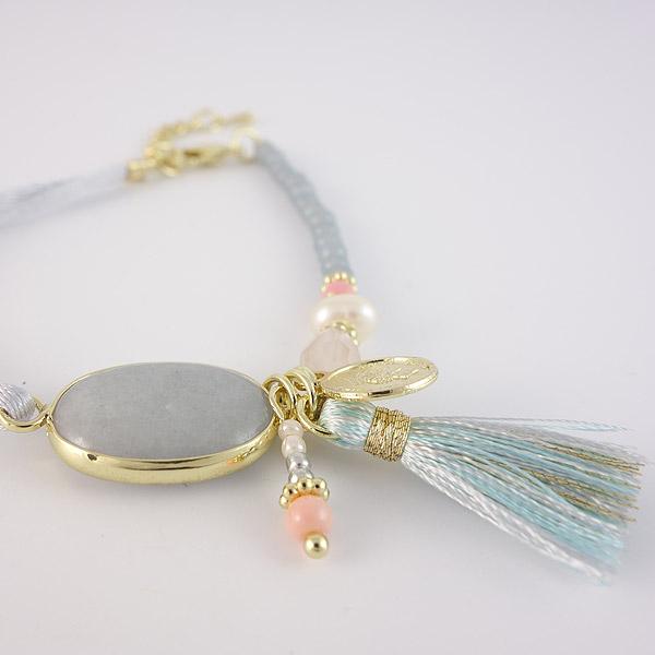 ibiza armband blauw grijs detail