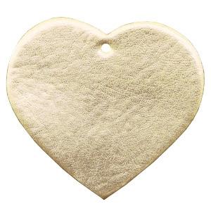 Leren hart voor aan tas hanger kleur goud