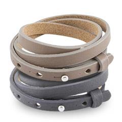 Cuoio triple armbanden die drie keer om je pols kan doen