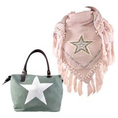 Tassen en omslagdoeken met ster