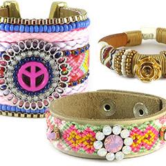 Zomerse en kleurrijke armbanden