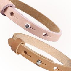Cuoio armband in lente kleuren