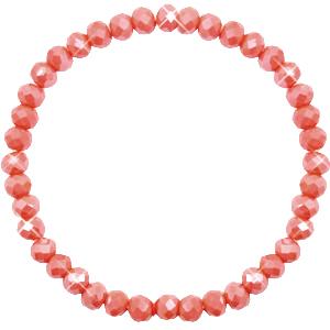 Facetarmband kleur rose peach 6mm