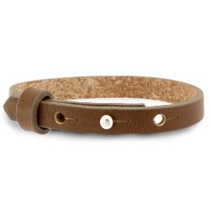 Smalle leren armband kleur alcazar brown
