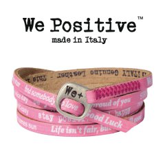 We Positive armband Fuxia
