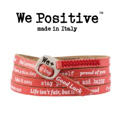 We Positive armband Red
