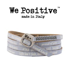 We Positive armband Gray white