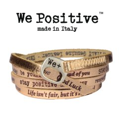 We Positive armband Rose gold