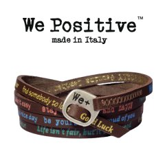 We Positive armband Dark brown