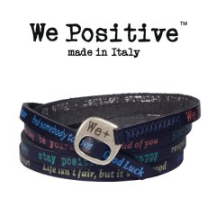 We Positive armband Dark blue