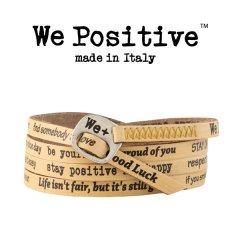 We Positive armband Mustard