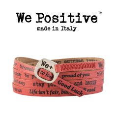 We Positive armband Papaya