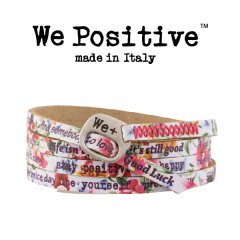 We Positive armband Pink Hibiscus
