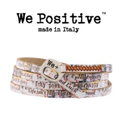 We Positive armband Pink Graffiti