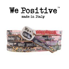 We Positive armband Japanese Black