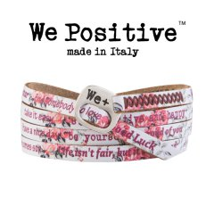 We Positive armband Rose